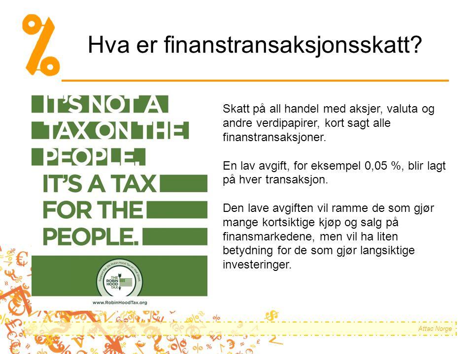 Hva er finanstransaksjonsskatt.