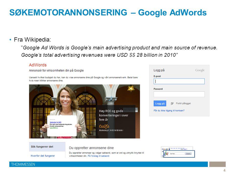 Hvordan fungerer Google AdWords.5 •Hva gjør Google.