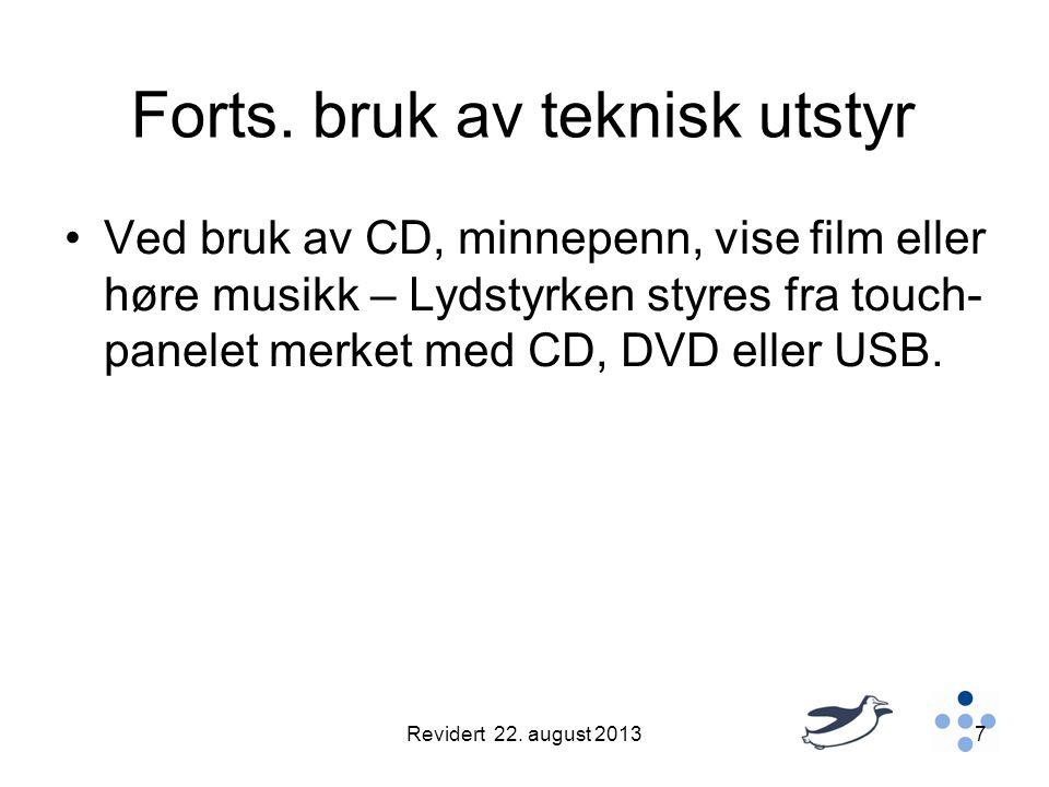 Bruk av USB minne-penn •Helse Nord IKT har kommet ut med følgende melding til alle UNN-ansatte: •Lenke til melding på Intranett: •http://unn- intra.unn.no/driftsmeldinger/bruk-av-usb- minne-penner-paa-unn-datamaskiner- article95751-11994.htmlhttp://unn- intra.unn.no/driftsmeldinger/bruk-av-usb- minne-penner-paa-unn-datamaskiner- article95751-11994.html Revidert 22.