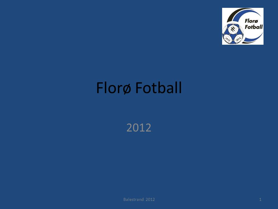 Florø Fotball 2012 Balestrand 20121
