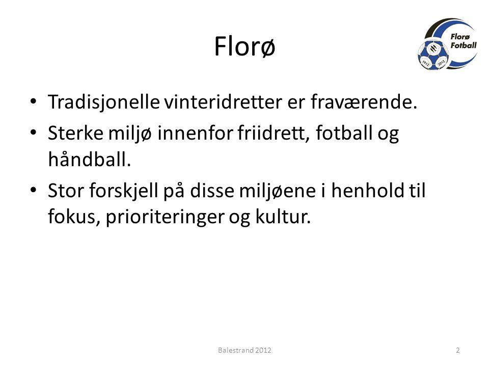Florø • Tradisjonelle vinteridretter er fraværende.