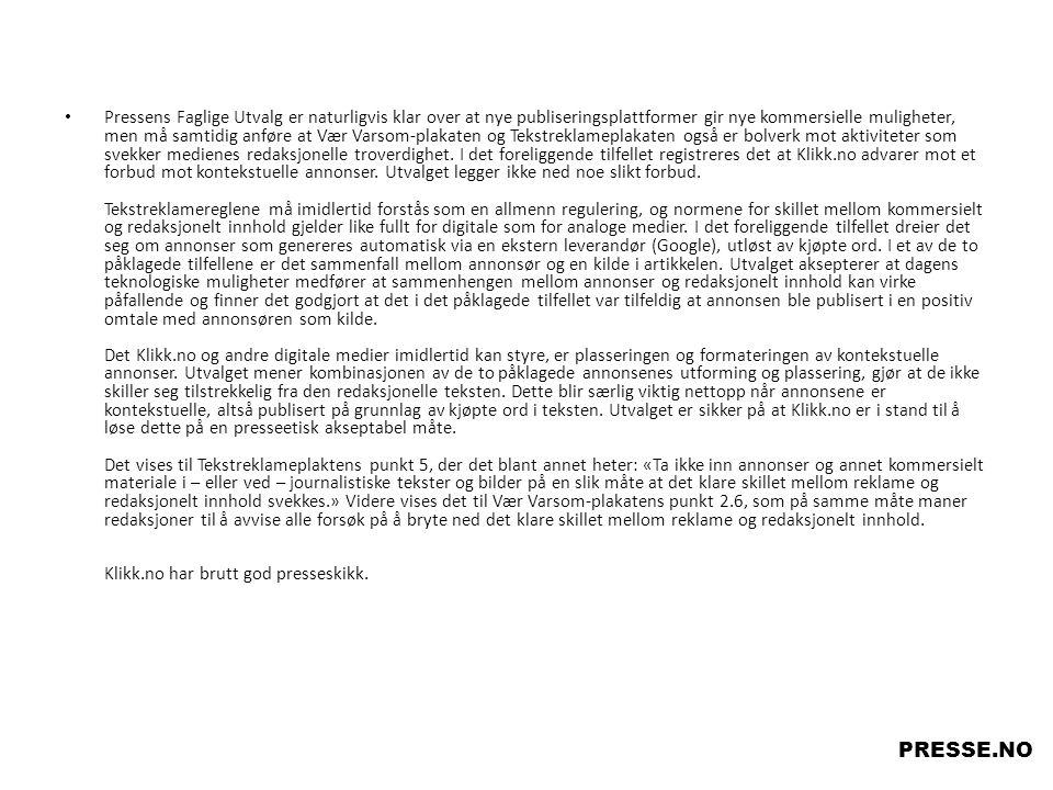 I forbindelse med omtale av en drapssak konkluderer PFU med at identifisering av siktede er ok.