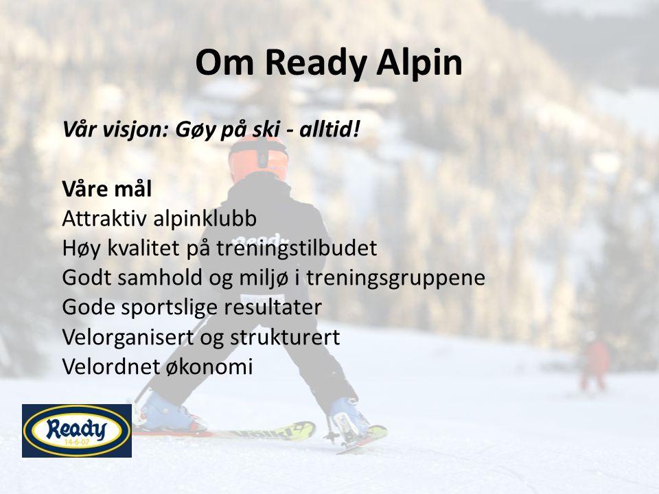 Om Ready Alpin Vår visjon: Gøy på ski - alltid.