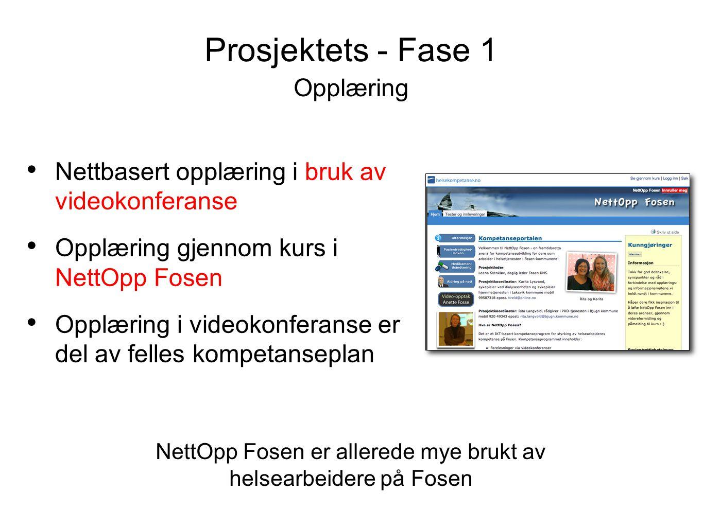 Opplæring • Nettbasert opplæring i bruk av videokonferanse • Opplæring gjennom kurs i NettOpp Fosen • Opplæring i videokonferanse er del av felles kom