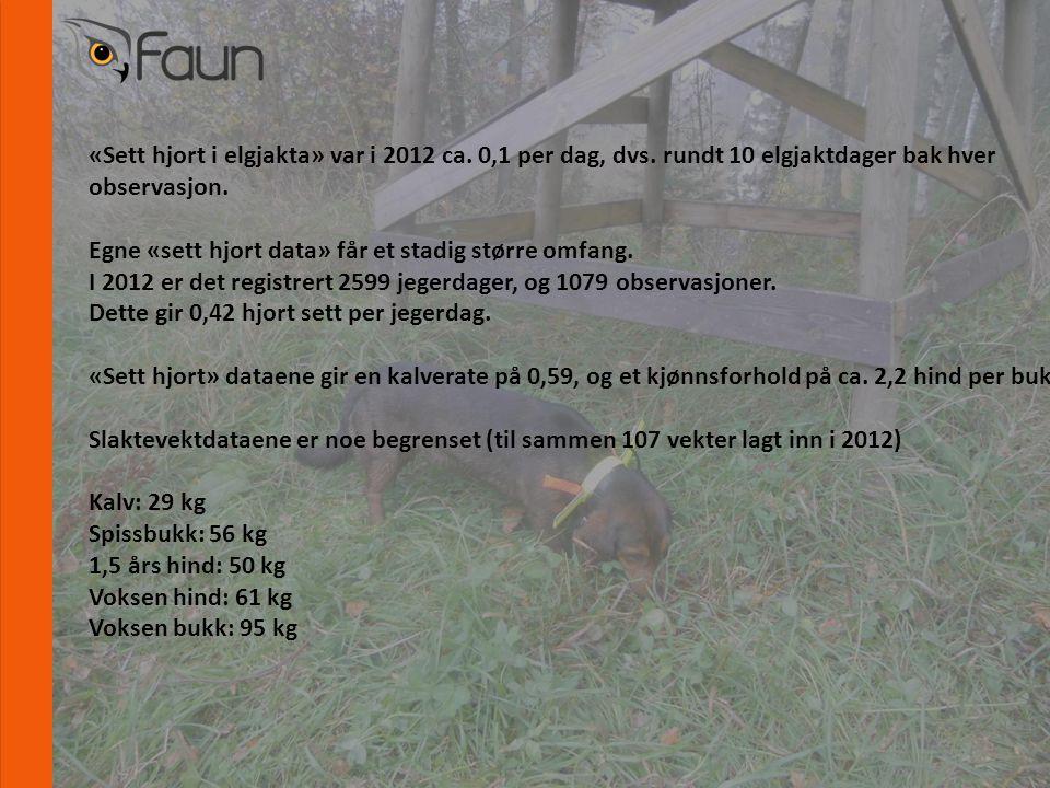 www.fnat.no «Sett hjort i elgjakta» var i 2012 ca.