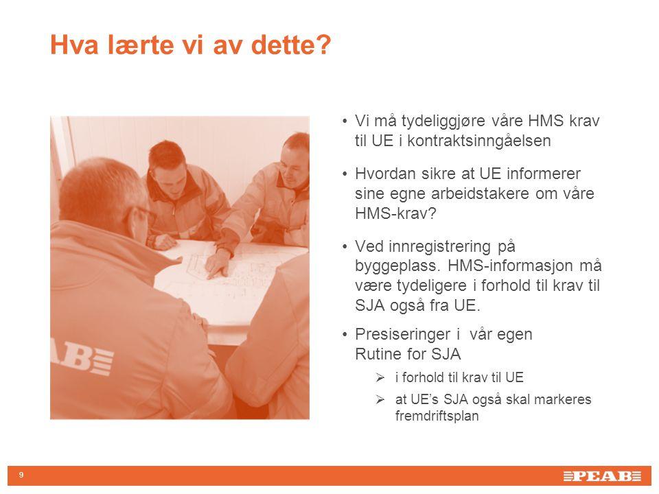 10 Informasjon til alle ansatte