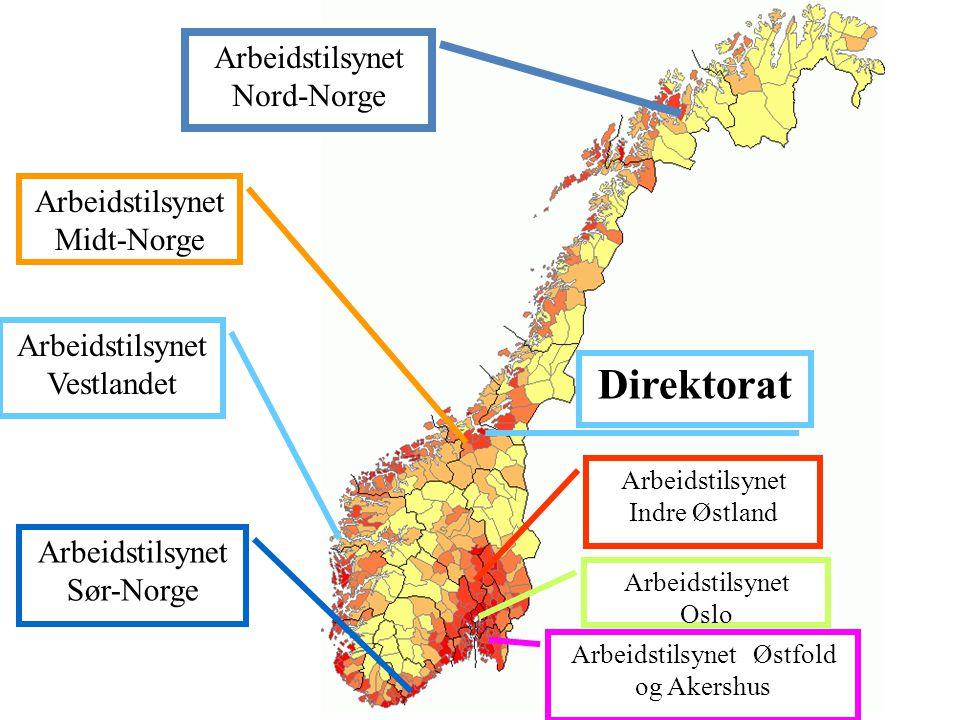 Antall tilsyn • Arbeidstilsynet Nord-Norge: 90 • Totalt i Norge: 835