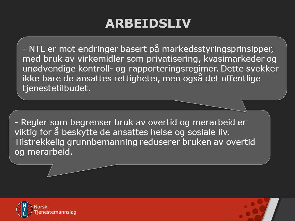 ARBEIDSLIV - Regler som begrenser bruk av overtid og merarbeid er viktig for å beskytte de ansattes helse og sosiale liv. Tilstrekkelig grunnbemanning