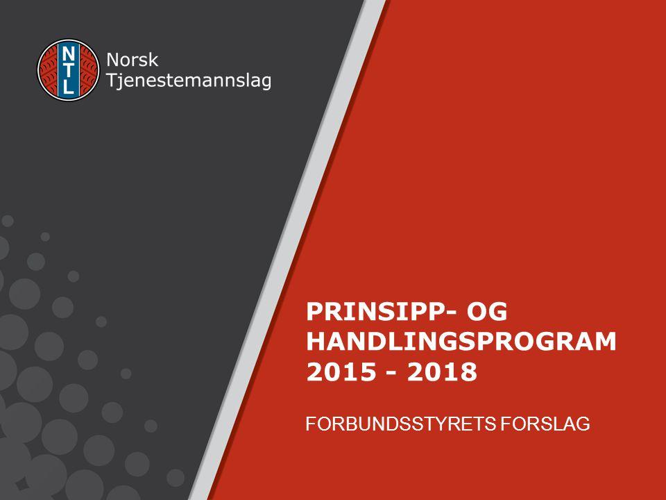 PRINSIPP- OG HANDLINGSPROGRAM 2015 - 2018 FORBUNDSSTYRETS FORSLAG