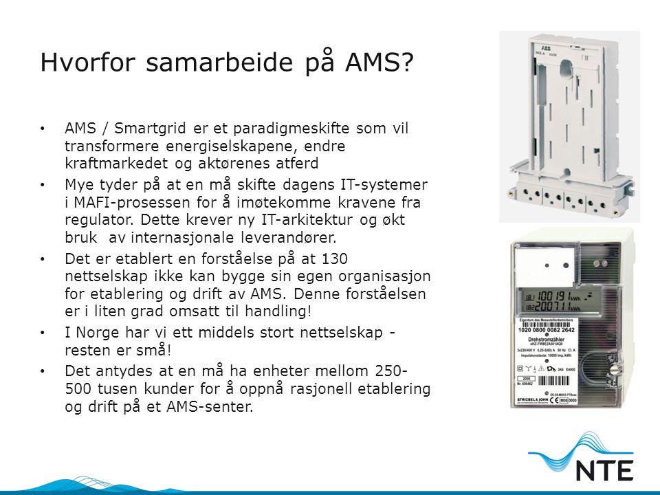 Hvorfor samarbeide på AMS? • AMS / Smartgrid er et paradigmeskifte som vil transformere energiselskapene, endre kraftmarkedet og aktørenes atferd • My