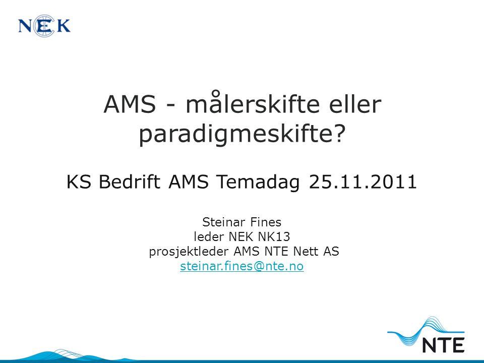 Hva er det egenlig AMS handler om - og hva ønsker vi det skal bli?
