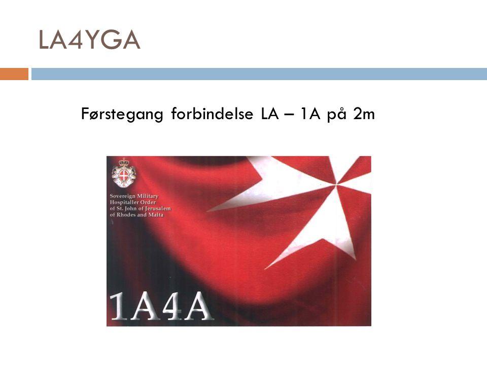 Førstegang forbindelse LA – 1A på 2m