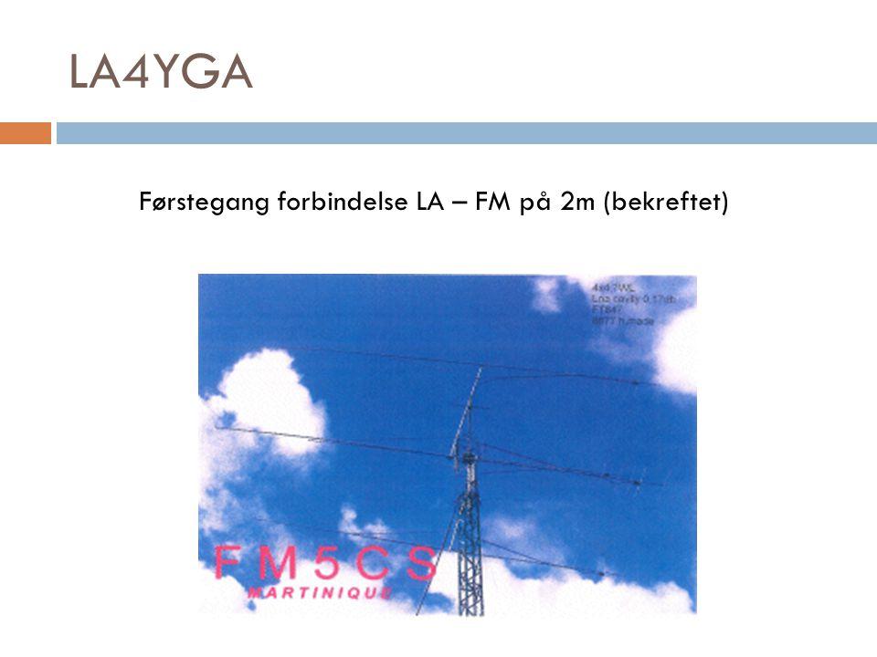 Førstegang forbindelse LA – FM på 2m (bekreftet)