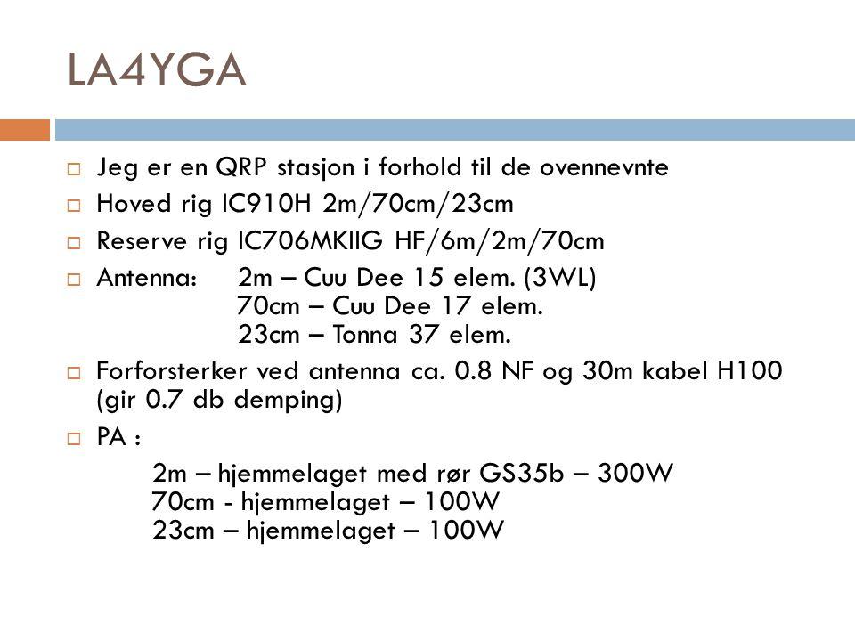 Stasjonsutstyr  Minimum krav:  På VHF er det tillat maks 300W.
