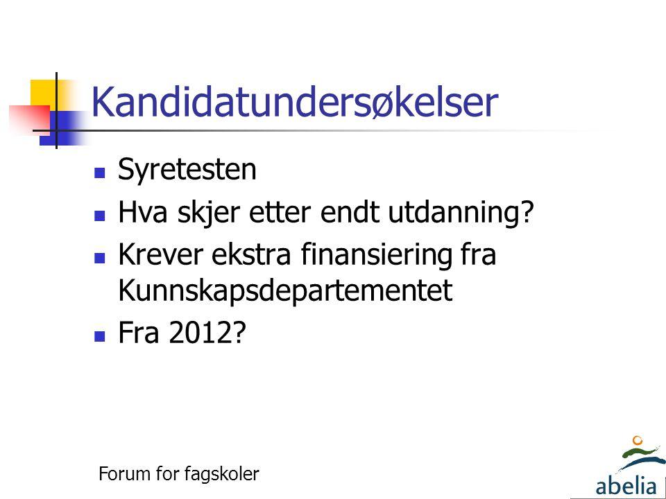 Kandidatundersøkelser  Syretesten  Hva skjer etter endt utdanning.
