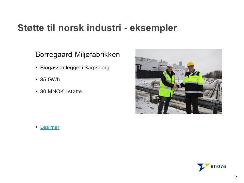 Støtte til norsk industri - eksempler 12 •Norges eneste gjenværende kjetting fabrikk •Halverer energibruken for å redusere kostnadene •Les merLes mer Nøsted Kjetting