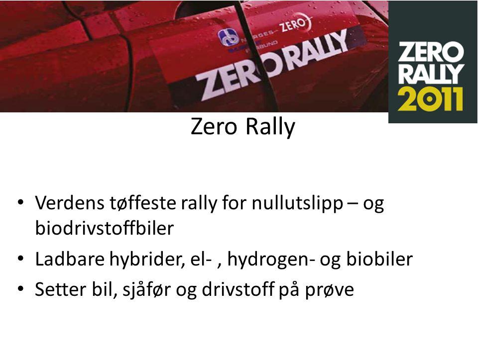 Zero Rally 2012 Følg med på: www.zerorally.no
