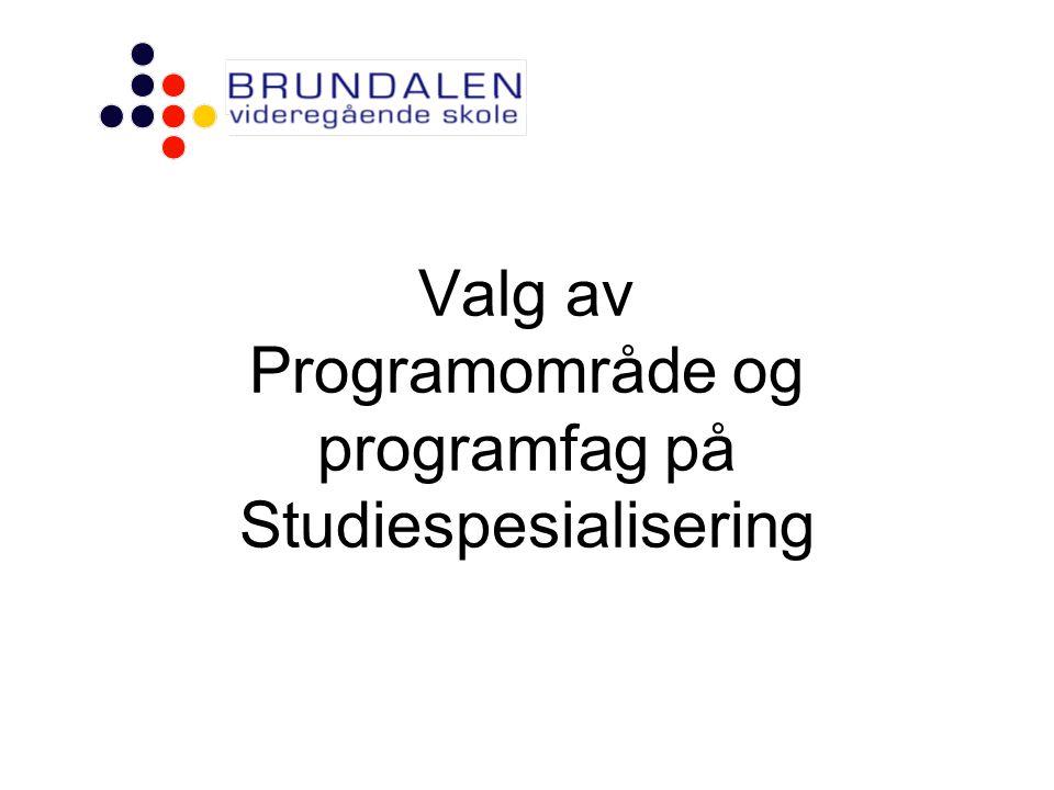 Valg av Programområde og programfag på Studiespesialisering