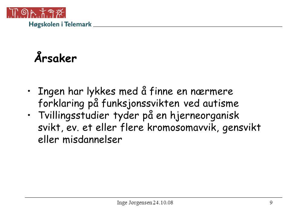 Inge Jørgensen 24.10.0810 Kommunikasjon http://autismeforeningen.no/comweb.asp?ID=4&segment=1&session= http://autismeforeningen.no/comweb.asp?ID=4&segment=1&session •Nesten halvparten mangler talespråk, og hos dem som snakker er språkkompetansen svært varierende.