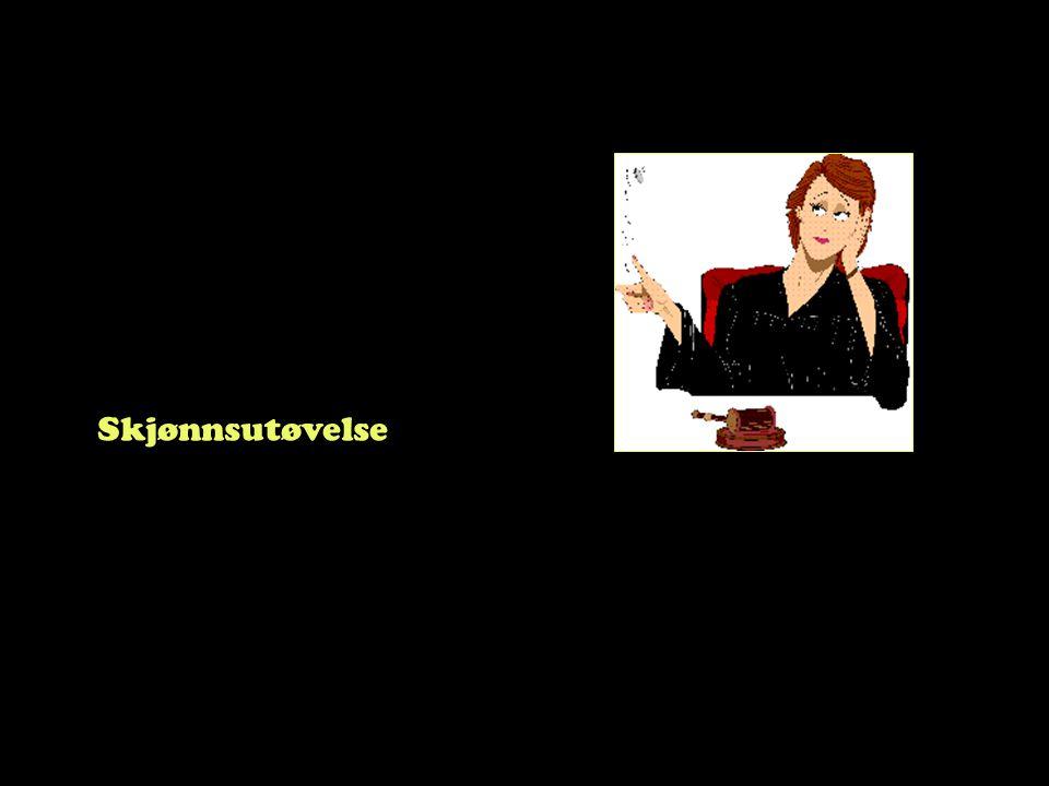 Steinar Taubøll - JUS100 UMB Kort om skjønnsutøvelse • Noen regler gir en viss frihet til beslutningstageren -Forvaltningen trenger fleksibilitet •Forvaltningsskjønn •Tilpassning til raskt skiftende samfunnsforhold •Tilpassning til politiske og økonomiske rammer -Domstolene trenger fleksibilitet •Domstolsskjønn •Eks: utmåling av straff i forhold til lovbryters personlige forhold •Eks: justering av erstatningssum på grunn av spesielle forhold