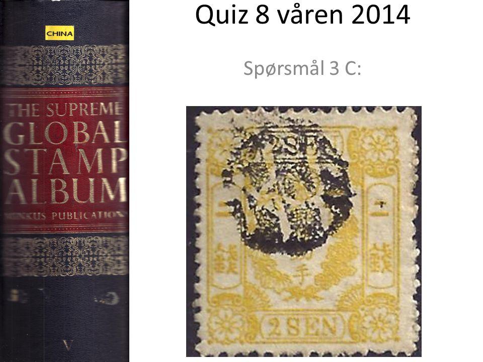 Quiz 8 våren 2014 Spørsmål 3 C: