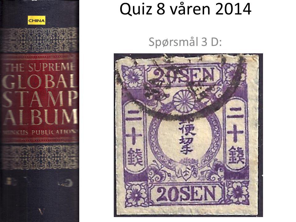 Quiz 8 våren 2014 Spørsmål 3 D: