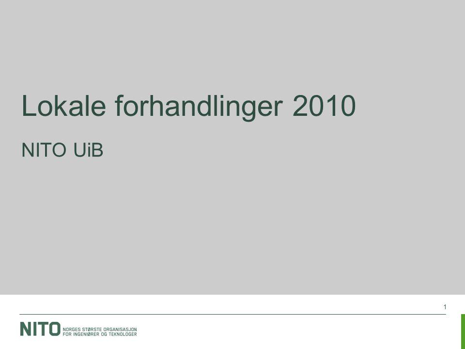 1 Lokale forhandlinger 2010 NITO UiB