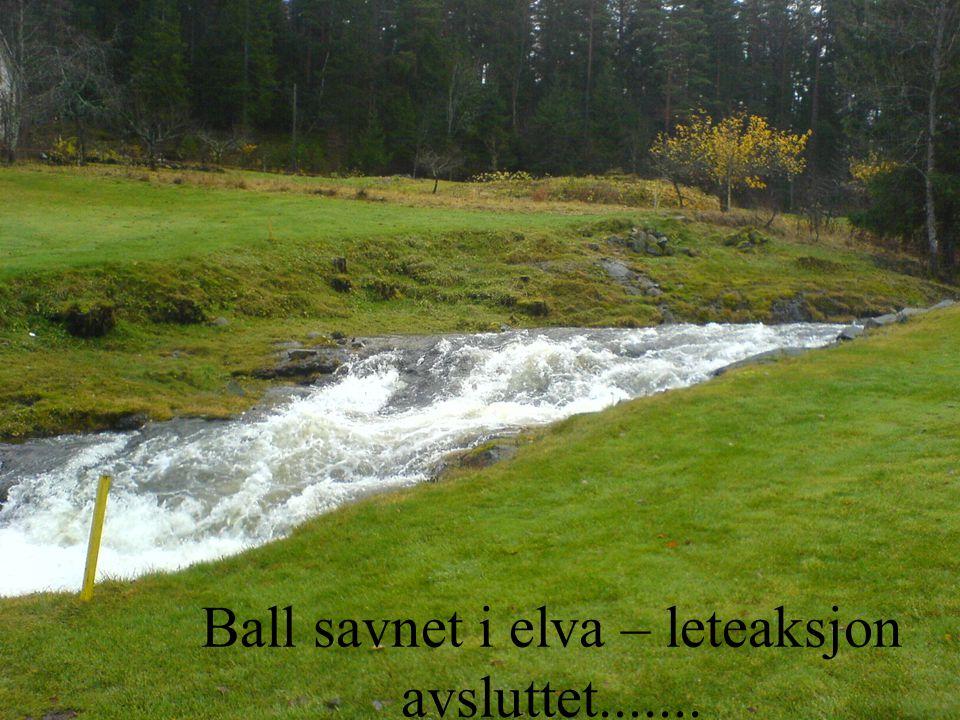 Ball savnet i elva – leteaksjon avsluttet.......