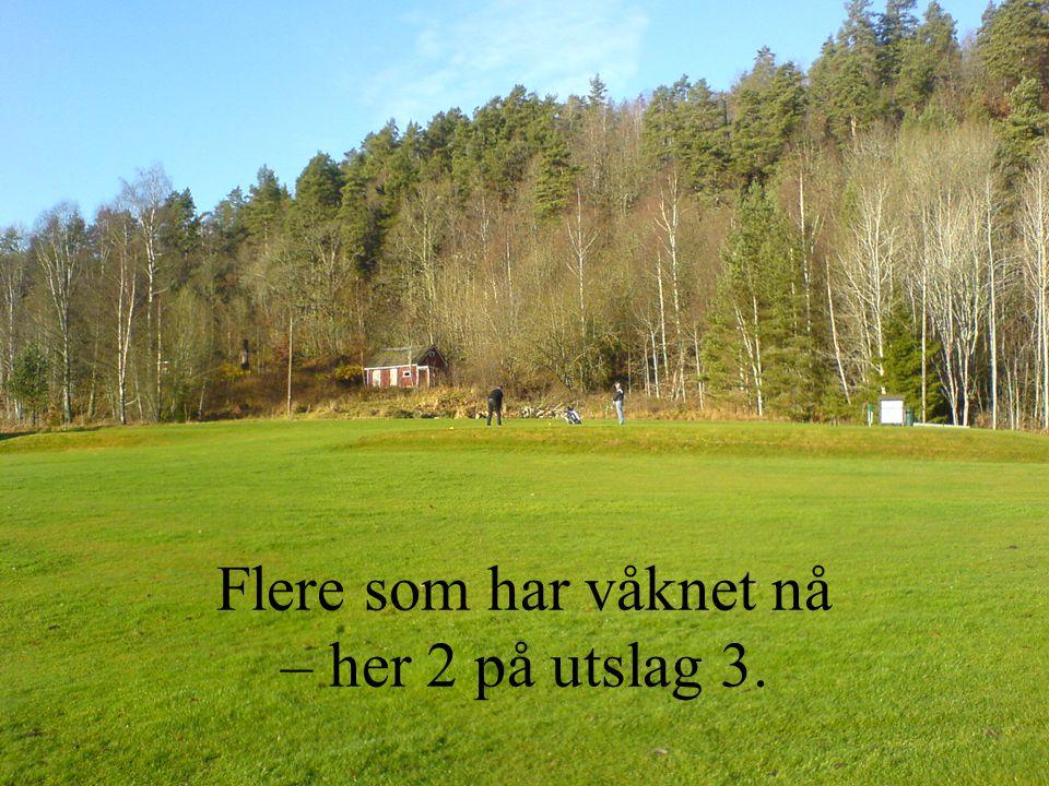 Fra green 17 – i bakgrunnen skimtes Bene Nilssen – klar til neste slag på hull 7
