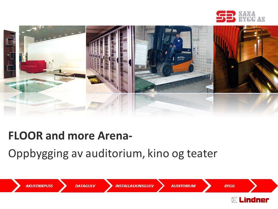 DATAGULV AKUSTIKKPUSSAUDITORIUMINSTALLASJONSGULV BYGG SANA BYGG AS FLOOR and more Arena- Oppbygging av auditorium, kino og teater