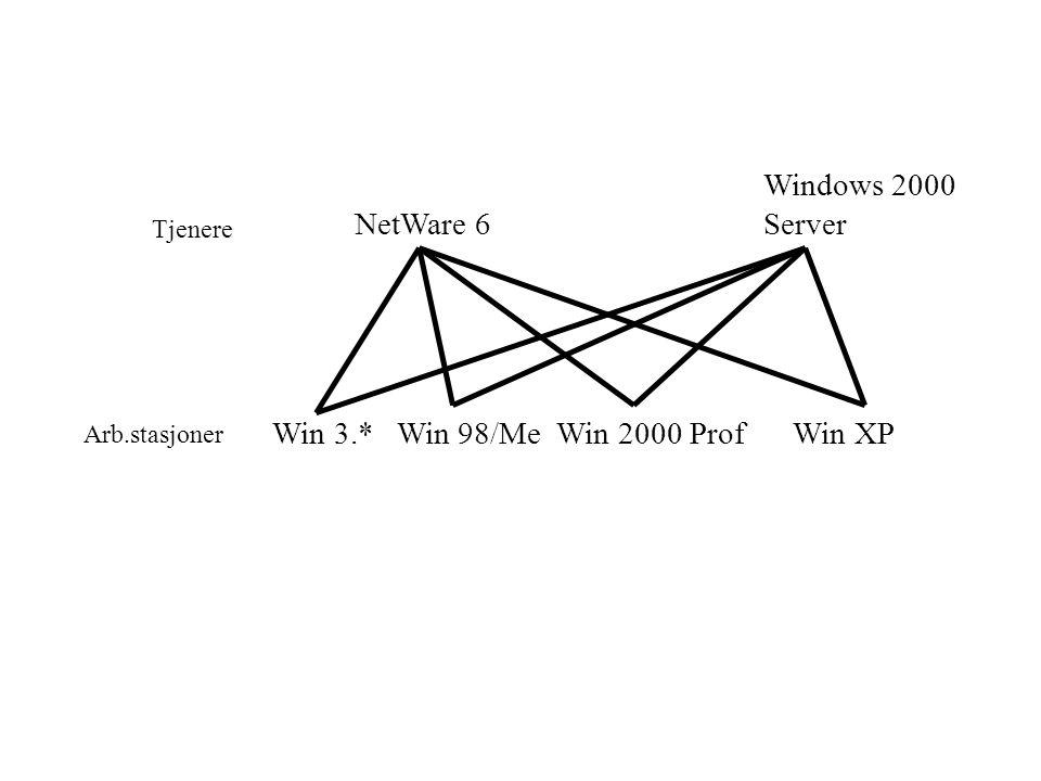 Operativsystem, f.eks.