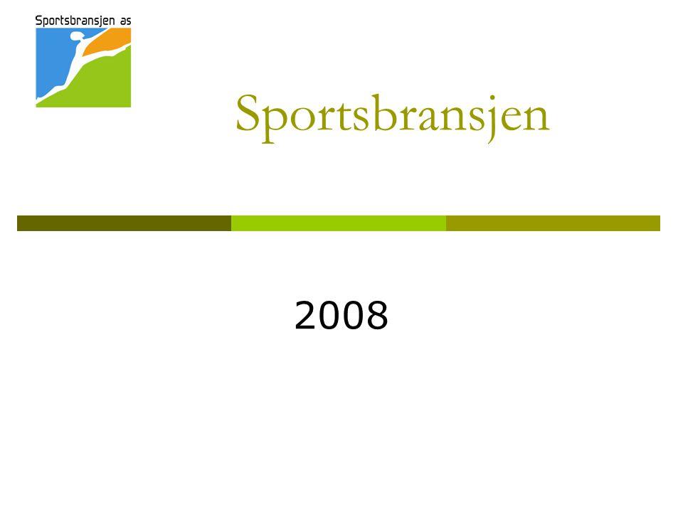 Sportsbransjen AS NORSPO AS  74 leverandører  Etablert for 20 år siden med mål om å stå sammen overfor en sterkere kjedestruktur  Felles messestruktur svært sentralt i alle år Sportskjedene AS  Gresvig  G-sport  Intersport  Sportshuset  Sport 1  Anton Sport  MX-Sport  COOP  XXL  Stadion Sportsbransjen AS skal bidra til å fremme sport og fritid blant folk flest Sportsbransjen AS' eierskap Sportsbransjen AS er en interesseorganisasjon for sportsbransjen i Norge.