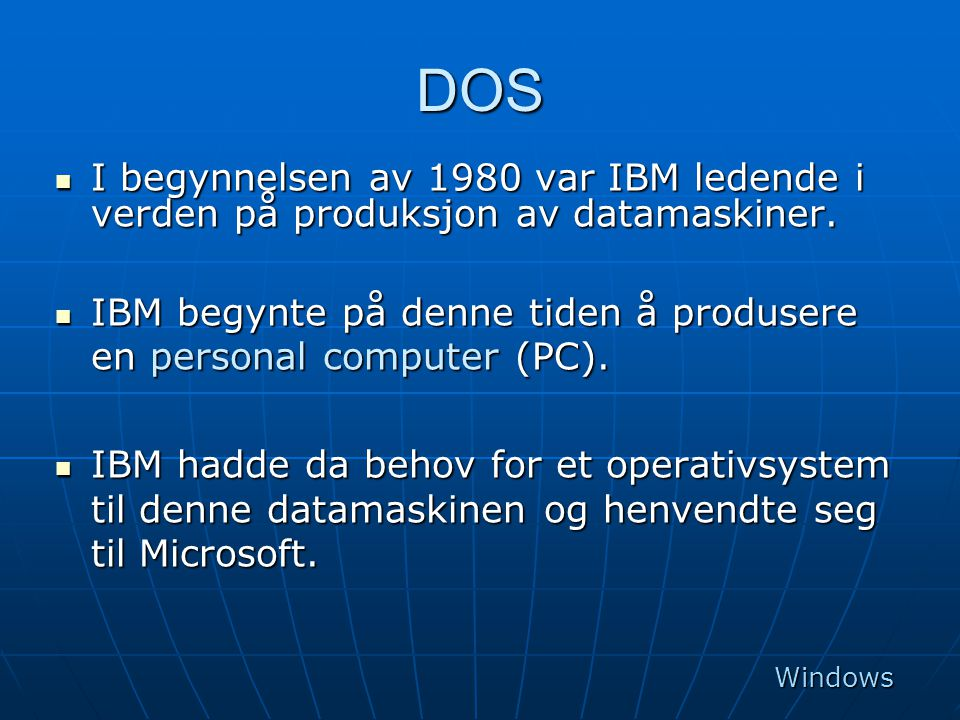 Windows Xp operativsystem  Windows Xp har støtte for multimedia.