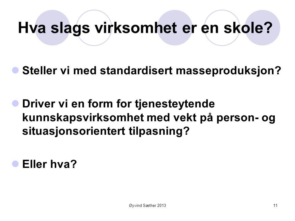 Øyvind Sæther 2013 Basis model - verdiskaping  Verdikjede  Verdiverksted  Verdinettverk 10