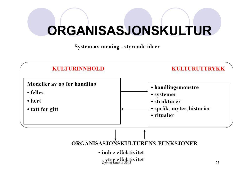 kultur som lim og drivstoff i organisasjoner Øyvind Sæther 201357