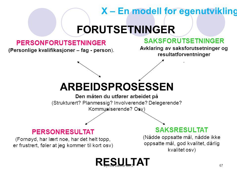 Øyvind Sæther 2013 Mestringsorientering (lærings- eller oppgaveorientering) Fokus: Sammenlikne seg med seg selv Lære nye ferdigheter, øke sin kompetan