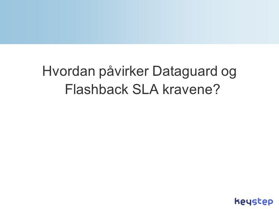 Hvordan påvirker Dataguard og Flashback SLA kravene?