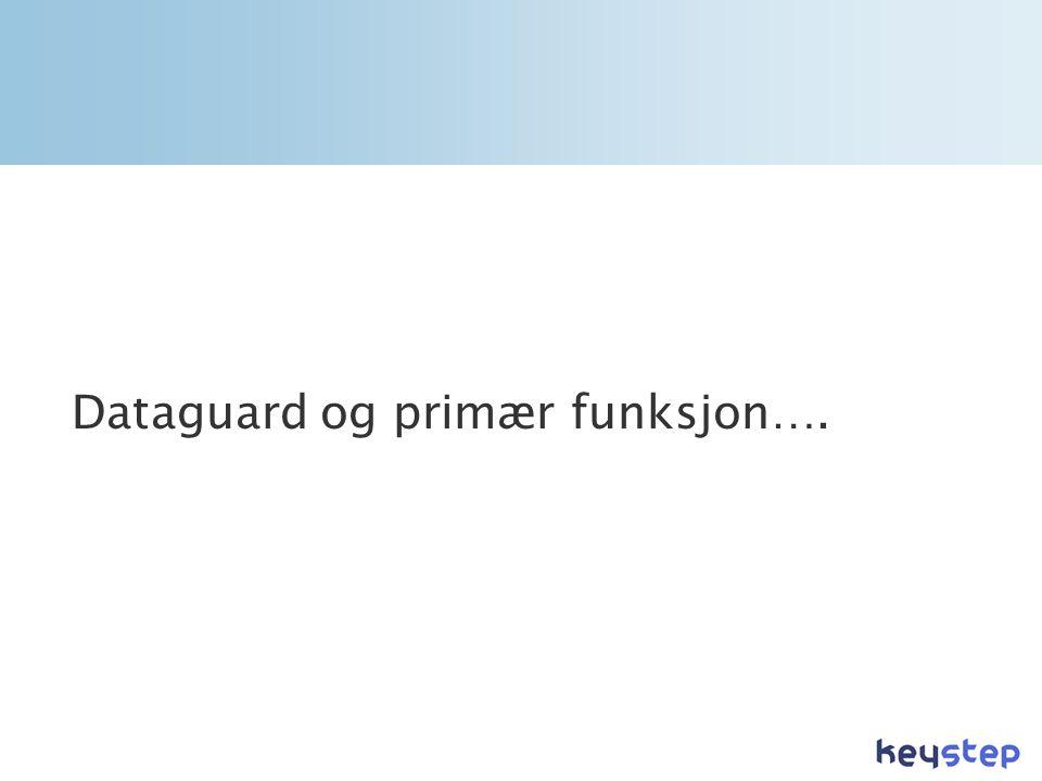 Dataguard og primær funksjon….