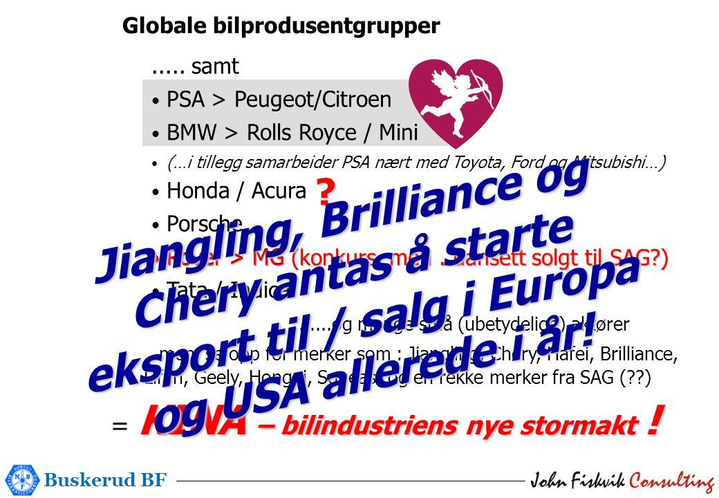 Buskerud BF Globale bilprodusentgrupper .