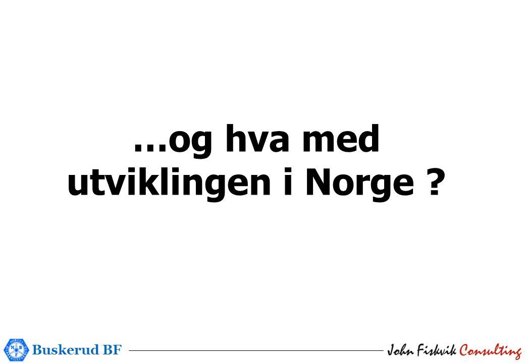 Buskerud BF …og hva med utviklingen i Norge ?