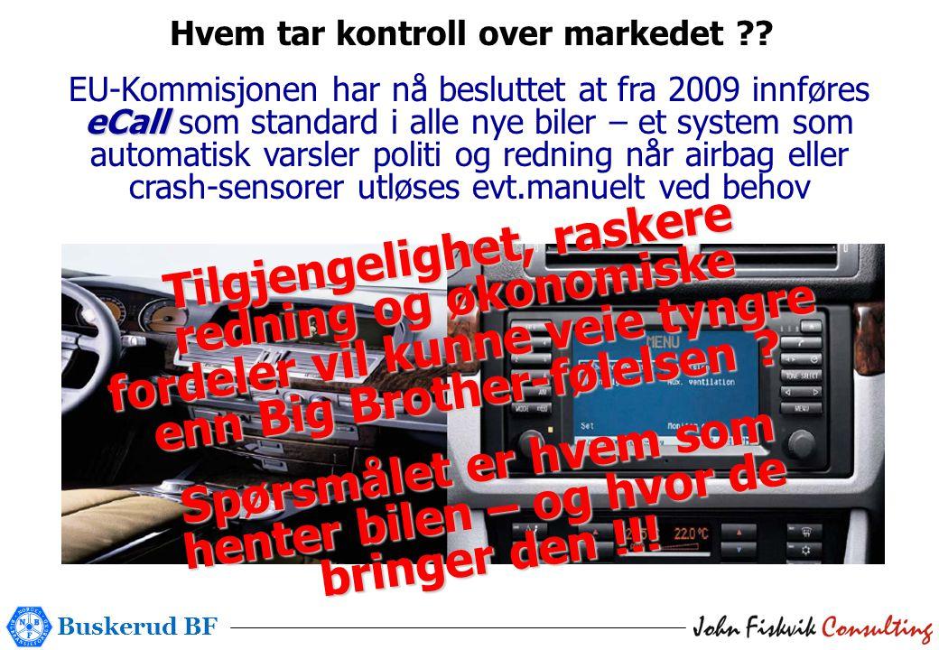 Buskerud BF Hvem tar kontroll over markedet ?.