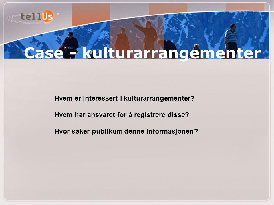 Case - kulturarrangementer Hvem er interessert i kulturarrangementer.
