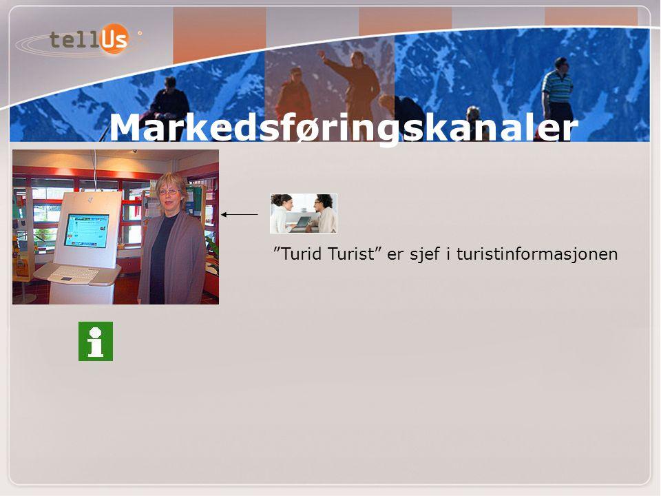 Turid Turist er sjef i turistinformasjonen Markedsføringskanaler