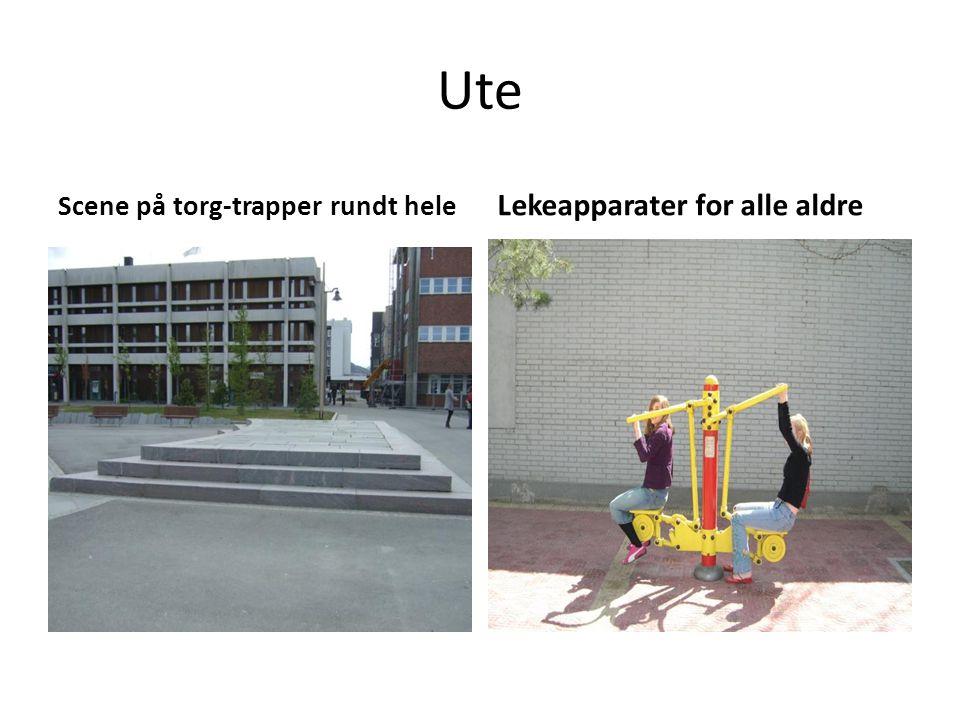 Ute Scene på torg-trapper rundt hele Lekeapparater for alle aldre