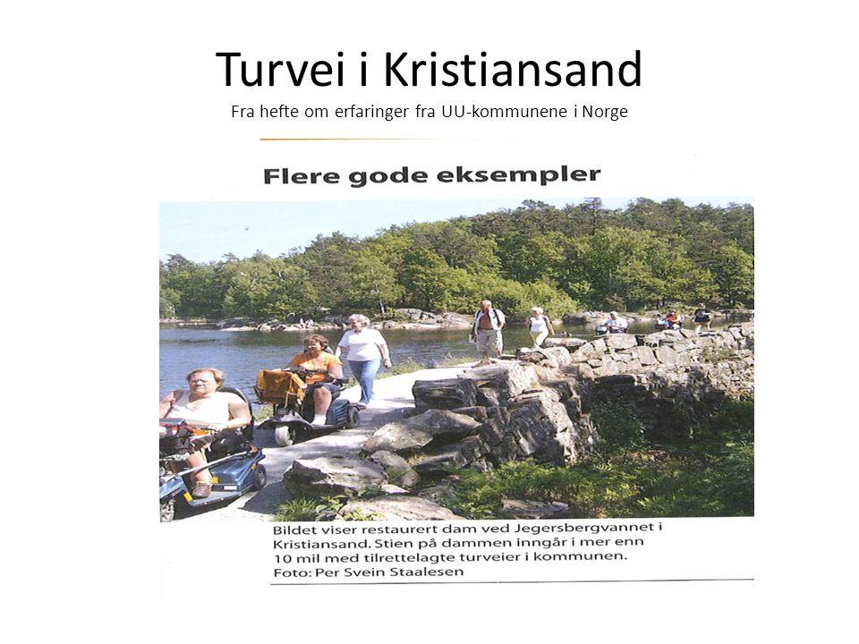Turvei i Kristiansand Fra hefte om erfaringer fra UU-kommunene i Norge
