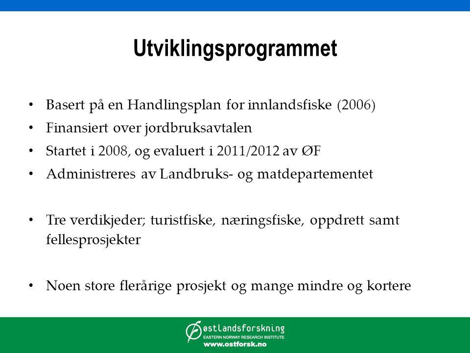 Kartlegging av verdikjedene basert på: • Dokumenter fra LMD om alle prosjekter • Oversikter over alle prosjekter, bl.a.