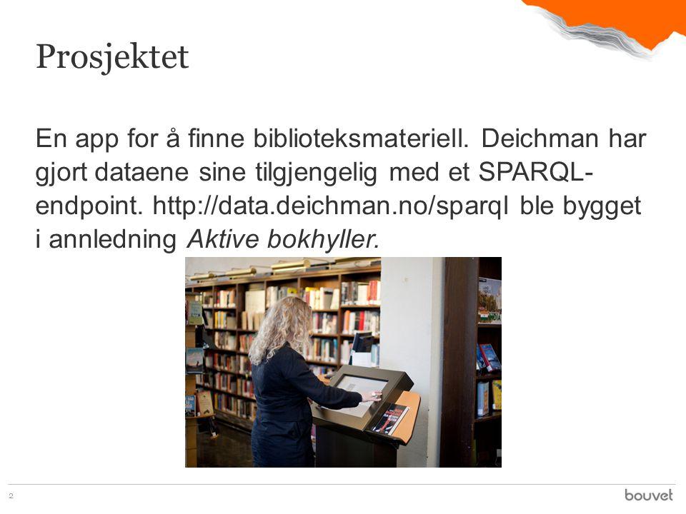 En app for å finne biblioteksmateriell.
