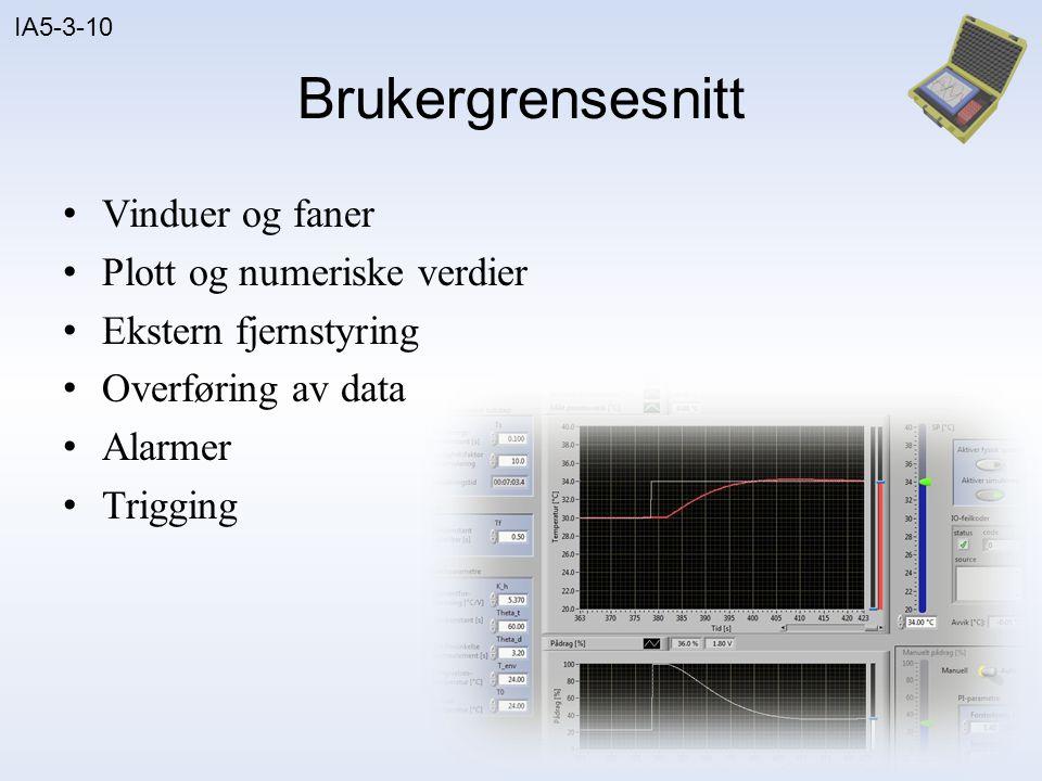 IA5-3-10 Plott Bargraf Trendplott Spektrumsplott Waterfall-plott