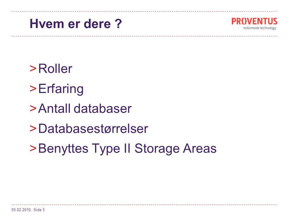 Ytelse >Balansere sikkerhet mot ytelse >Vurder nøye valg av krypteringsnøkkel (algoritme + nøkkelstørrelse) >Optimalisere ytelse >Bruke Type II storage areas (kryptere på object nivå) >Øke treff fra buffer (-B) >Vurder å bruke Alternate Buffer Pool (-B2) >Krypter kun nødvendige Indexer / Tabeller (hvor sensitive data lagres) 05.02.2010, Side 14
