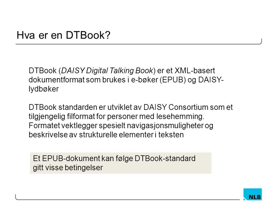 Hva er en DTBook.